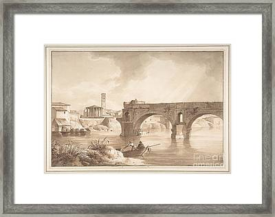 A View Of The Tiber From The North Bank Framed Print