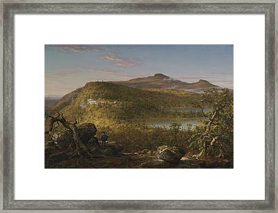 A View Of The Two Lakes And Mountain House Catskill Mountains Morning Framed Print by Thomas Cole