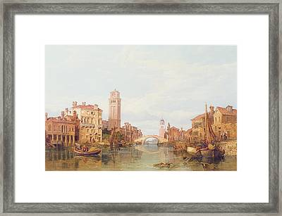 A View Of Verona Framed Print by George Clarkson Stanfield