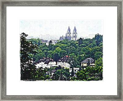 A View Of Wiesbaden Framed Print by Sarah Loft