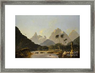 A View Taken In The Bay Of Oaite Peha Framed Print by Celestial Images