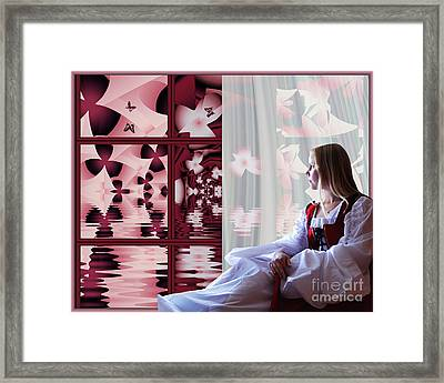 A View To The Water Garden Framed Print