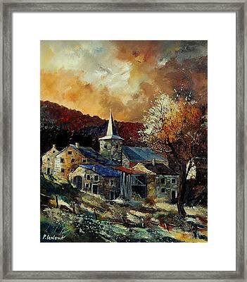 A Village In Autumn Framed Print by Pol Ledent