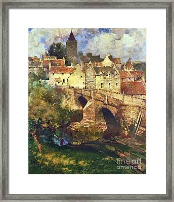 A Village In East Linton Framed Print by MotionAge Designs