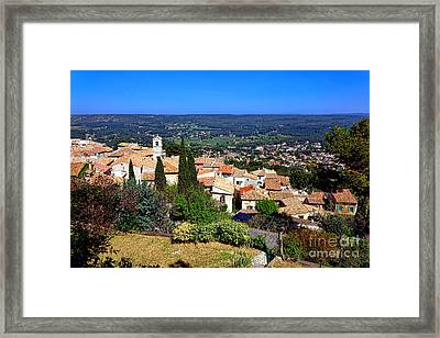A Village In Provence Framed Print