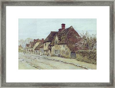 A Village Street Kent Framed Print by Helen Allingham