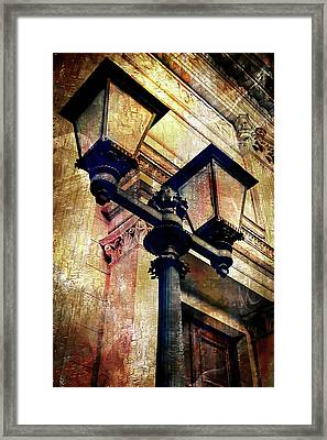 A Vintage Lampost Framed Print by Tom Gowanlock