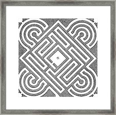 A Vintage Parterr Plan Framed Print