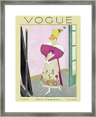 A Vintage Vogue Magazine Cover From 1926 Framed Print