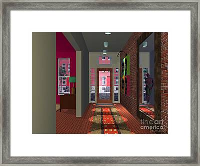 The Man In The Mirror Framed Print