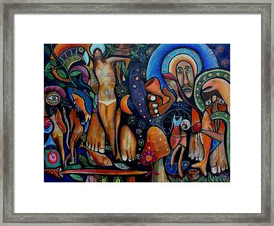 A Vision Of Christ Framed Print by Andrew Osta