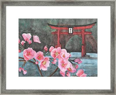 A Vision Of Dhyana Framed Print by Christopher Brooks