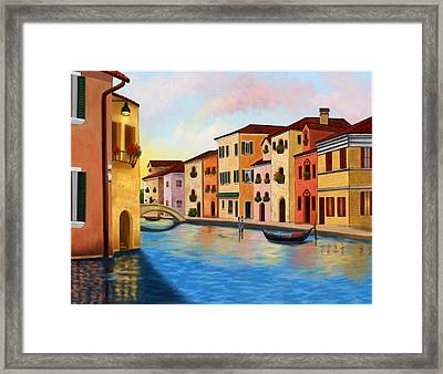 A Vision Of Venice Framed Print