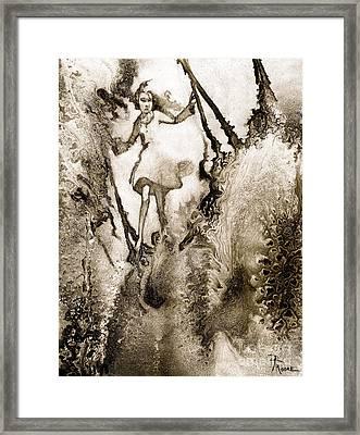 A Vision Softly Creeping Framed Print by Rick Moore
