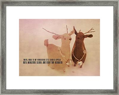 A Visit From Saint Nicholas Quote Framed Print by JAMART Photography