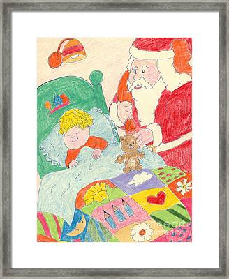 A Visit From Santa Framed Print by Sonya Chalmers