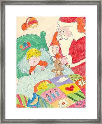 A Visit From Santa Framed Print