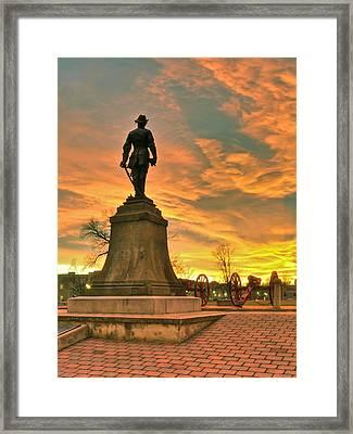 A Vmi Sunset Framed Print