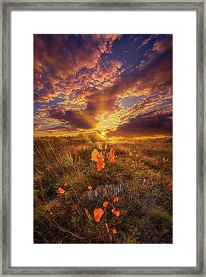 A Voice Of Calm In The Stillness Framed Print