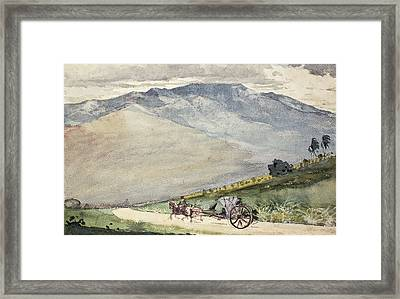 A Volante On A Mountain Road Cuba Framed Print