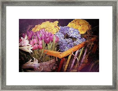 A Wagon Full Of Spring Framed Print by Patrice Zinck