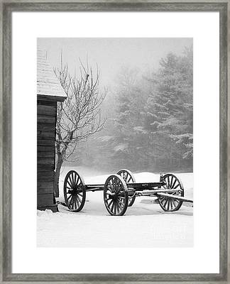 A Wagon In Winter Framed Print