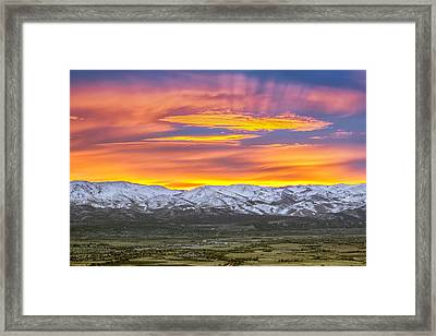 A Waking World Framed Print by Steve Baranek