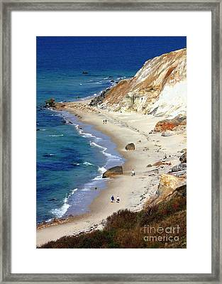 A Walk Along Aquinnah Beach Framed Print