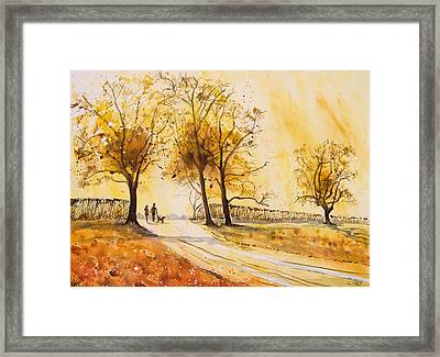 A Walk At Sunrise Framed Print by A Portrait Of Europe