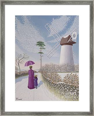 A Walk By The Mill Framed Print