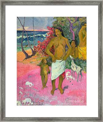 A Walk By The Sea Framed Print by Paul Gauguin