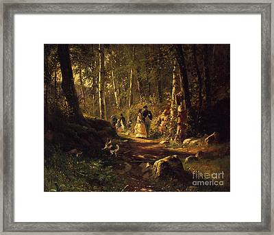 A Walk In A Forest, 1869  Framed Print by Ivan Ivanovich Shishkin