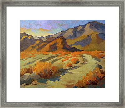 A Walk In La Quinta Cove Framed Print by Diane McClary