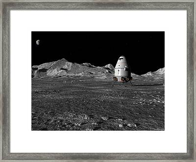 Framed Print featuring the digital art A Walk In The Apenninus Range by David Robinson