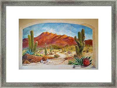 A Walk In The Desert Wall Mural Framed Print by Marilyn Smith