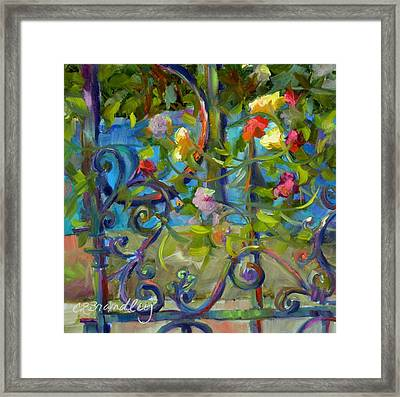 Framed Print featuring the painting A Walk In The Garden by Chris Brandley