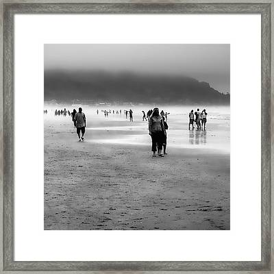 A Walk In The Mist Framed Print by David Patterson