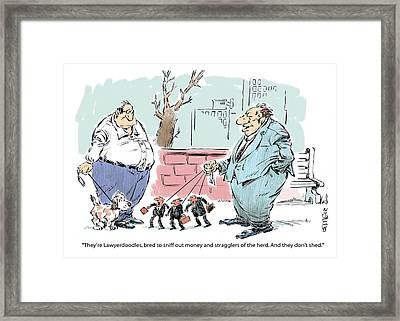 A Walk In The Park. Framed Print