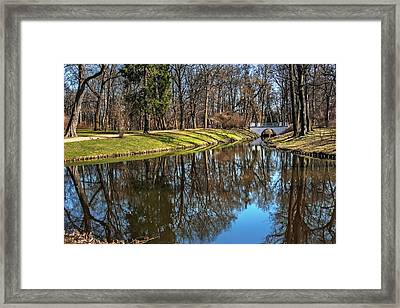 A Walk In The Park Lazienki Warsaw Framed Print by Carol Japp