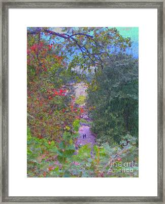 A Walk In The Park Framed Print by Methune Hively