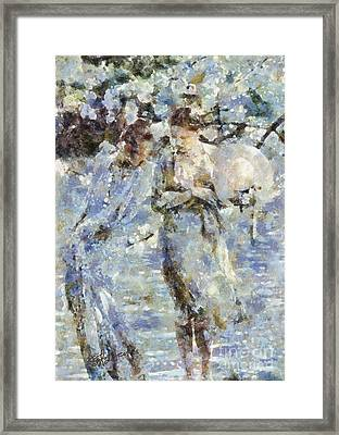 A Walk In The Park Framed Print by Shirley Stalter
