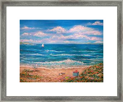 A Walk In The Sand Framed Print