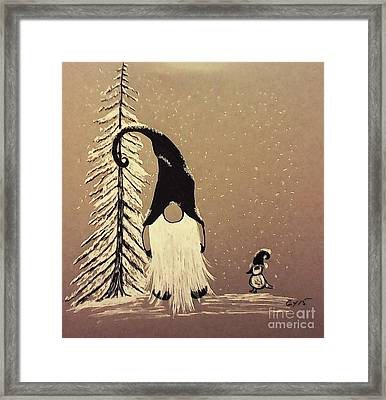 A Walk In The Snow Framed Print by Ginny Youngblood