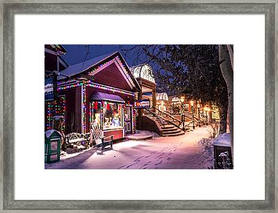 A Walk In The Snow Framed Print