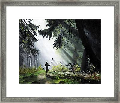 A Walk In The Woods Framed Print by Chris Wiese
