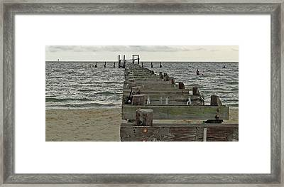 A Walk Into The Gulf Framed Print by Diane Luke