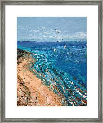 A Walk On Dauphin Island Framed Print by Suzanne McKee