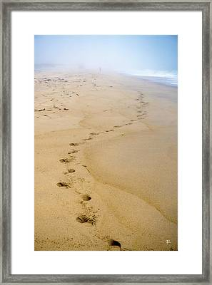 Framed Print featuring the photograph A Walk On The Beach by Tom Romeo