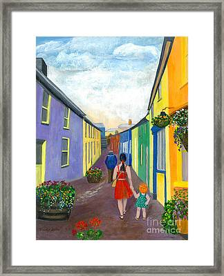 A Walk On The Bright Side Framed Print by Veronica Rickard