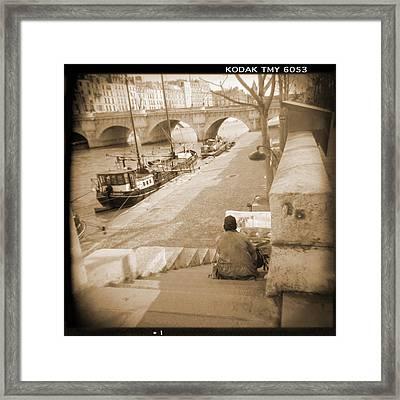 A Walk Through Paris 1 Framed Print by Mike McGlothlen